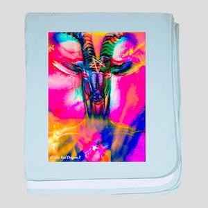 Psychedelic Baphomet baby blanket