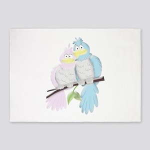 Love Birds 5'x7'Area Rug