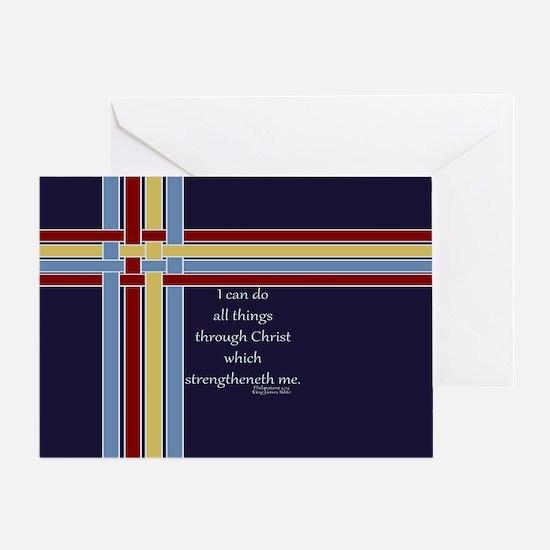 Bible Verse Philippians 4 13 Ribbons Greeting Card