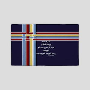 Philippians 4 13 Bible Verse Ribbons 3'x5' Area Ru