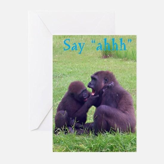 gorilla doctor Greeting Cards (Pk of 10)