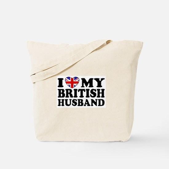 I Love My British Husband Tote Bag