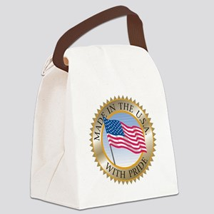 MADE IN THE USA SEAL! Canvas Lunch Bag