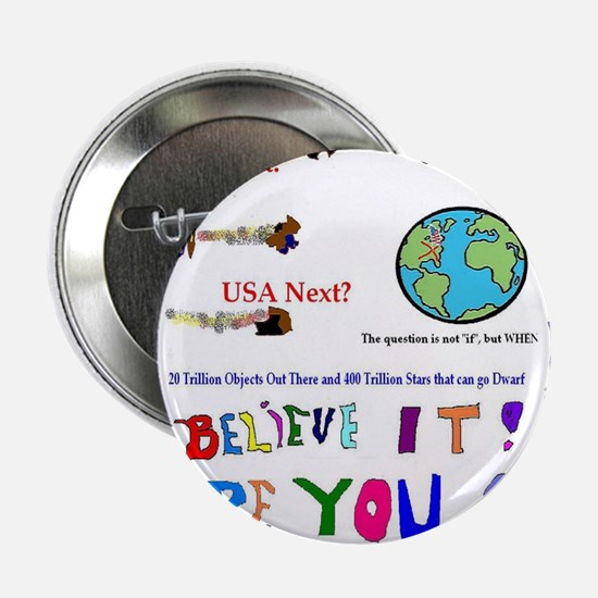 "Meteor Asteroid Earth 2.25"" Button"