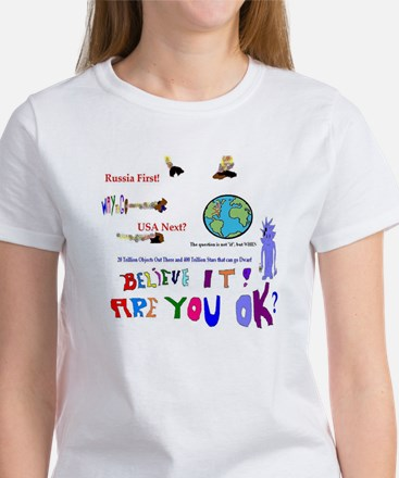 Meteor Asteroid Earth T-Shirt