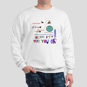 Meteor Asteroid Earth Sweatshirt