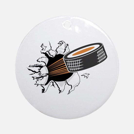 Breakthrough Hockey Ornament (Round)