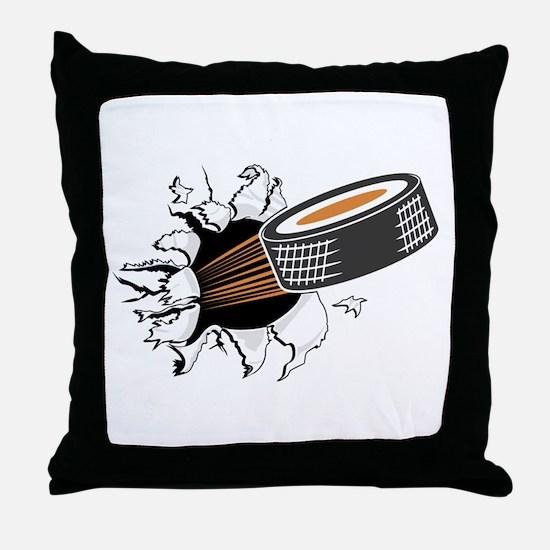 Breakthrough Hockey Throw Pillow