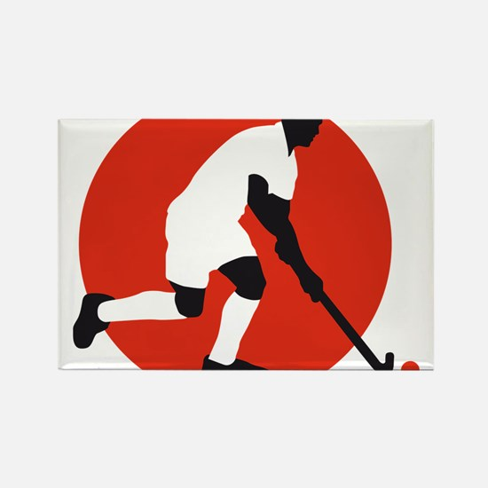 field hockey player Rectangle Magnet