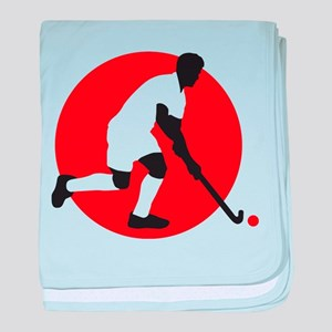 field hockey player baby blanket