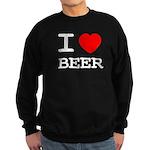 I heart beer Sweatshirt (dark)