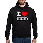 I heart beer Hoodie (dark)