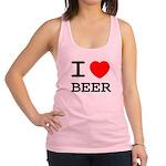 I heart beer Racerback Tank Top