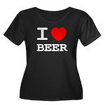 I heart beer Women's Plus Size Scoop Neck Dark T-S