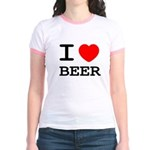 I heart beer Jr. Ringer T-Shirt