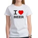 I heart beer Women's T-Shirt