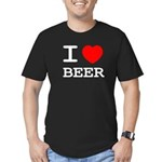 I heart beer Men's Fitted T-Shirt (dark)