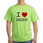 I heart beer Green T-Shirt