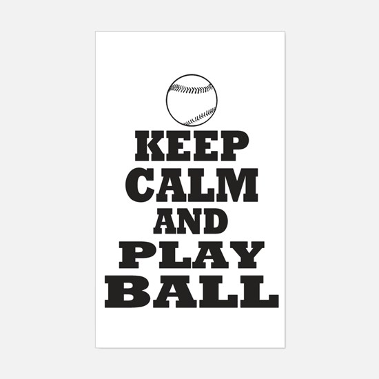 Keep Calm Play Ball Decal