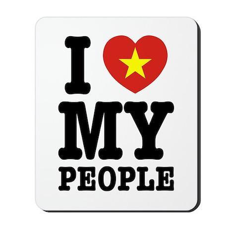 I Heart (Love) My Viet People Mousepad