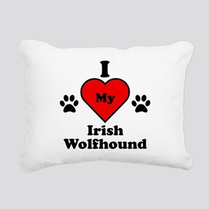 I Heart My Irish Wolfhound Rectangular Canvas Pill