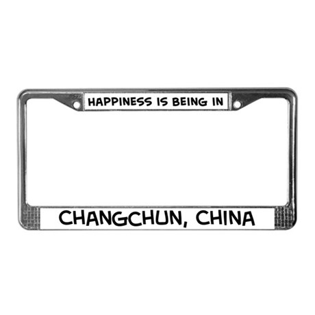 Happiness is Changchun License Plate Frame