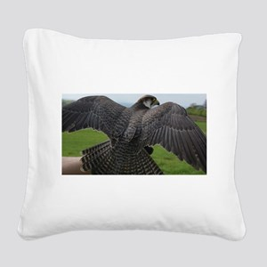 Peregrine Falcon Square Canvas Pillow