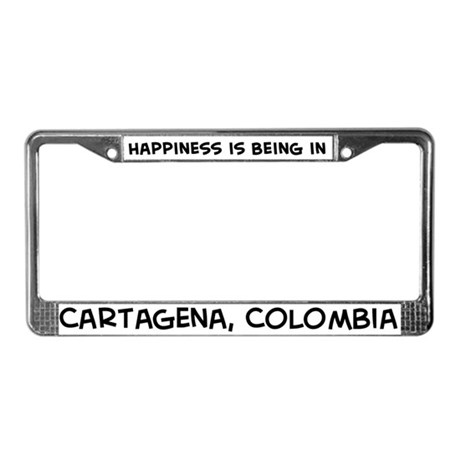 Happiness is Cartagena License Plate Frame