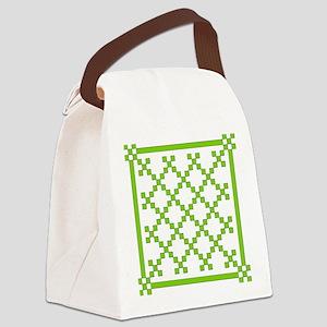 mod irish quilt Canvas Lunch Bag