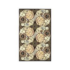 Vintage Clocks 3'x5' Area Rug