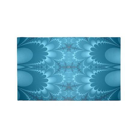 Blue Petals 3'x5' Area Rug