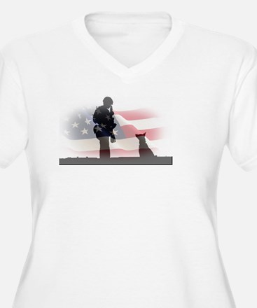 Soldier and shepard Plus Size T-Shirt