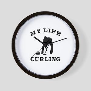 My Life Curling Wall Clock