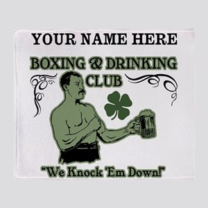 Personalizable Irish Club Throw Blanket