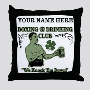 Personalizable Irish Club Throw Pillow
