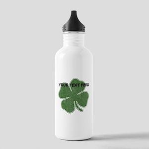 Personalizable Vintage Shamrock Water Bottle