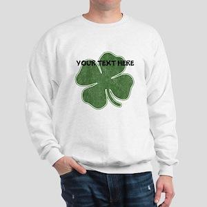 Personalizable Vintage Shamrock Sweatshirt