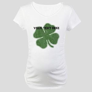 Personalizable Vintage Shamrock Maternity T-Shirt