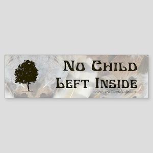 No Child Left Inside - Bumper Sticker