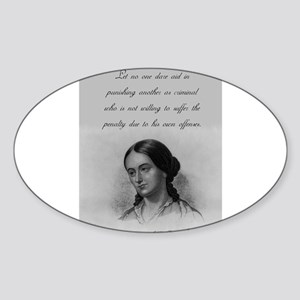 Let No One Dare Aid - Fuller Sticker (Oval)
