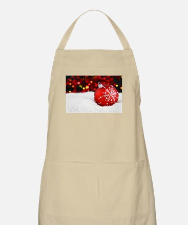red christmas ornament Apron