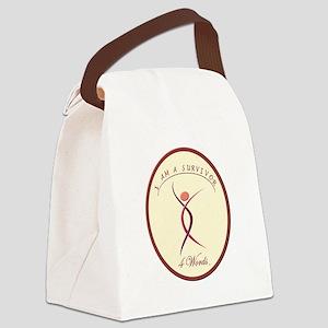 I Am A Survivor 2 Canvas Lunch Bag