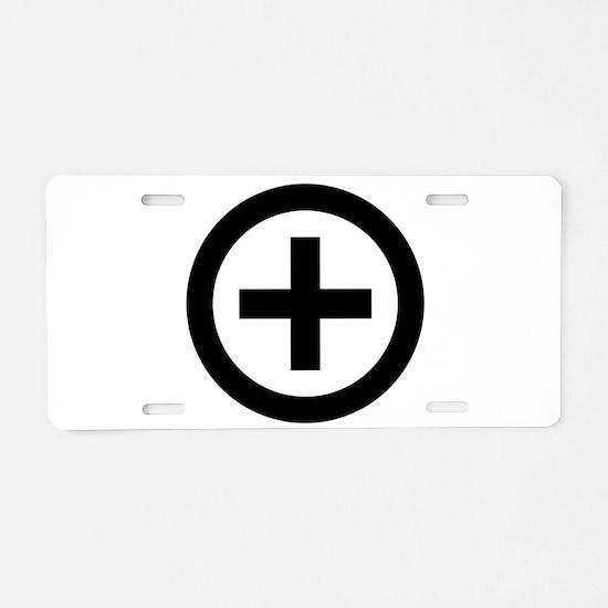 Collared (female) Aluminum License Plate
