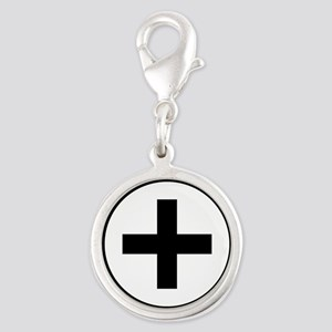 Collared (female) Silver Round Charm