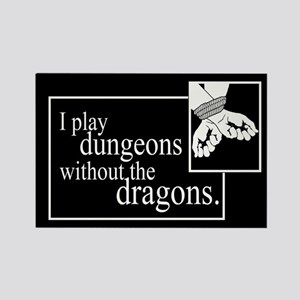 Dungeons Without Dragons Rectangle Magnets
