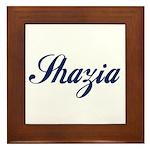 Shazia name Framed Tile