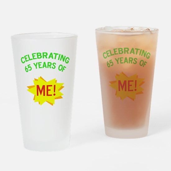 Celebrate My 65th Birthday Drinking Glass