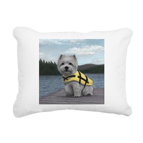 Truman at the Lake Rectangular Canvas Pillow