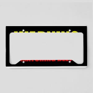 Warning Matching Belt Fun License Plate Holder