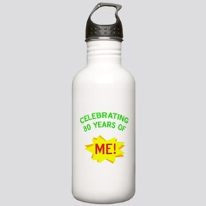 Celebrate My 80th Birthday Stainless Water Bottle